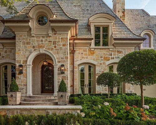 Front door landscaping home design ideas pictures for French country exterior design