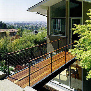 Example of a trendy two-story exterior home design in San Francisco