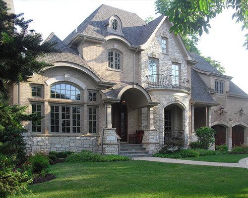Brick stone combination home design ideas pictures for Brick stone combinations