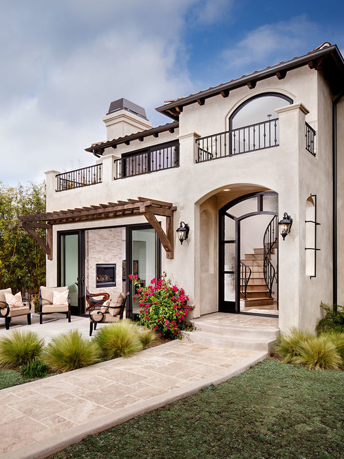 Inspiration For A Huge Mediterranean Beige Stucco Exterior Home Remodel In  San Diego