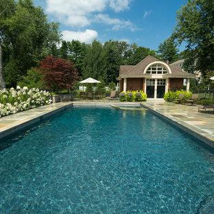 Large elegant exterior home photo in New York