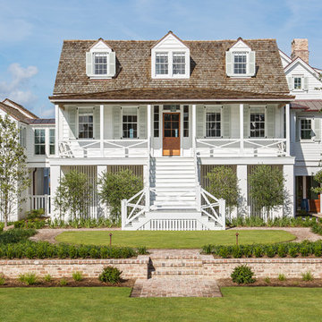 Classic Island Beach Cottage Exterior Elevated