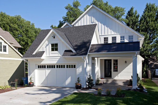 Traditional Exterior Classic meet Contemporary in this Edina, Minneapolis family home
