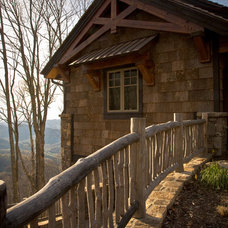 Rustic Exterior by Tyner Construction Co Inc