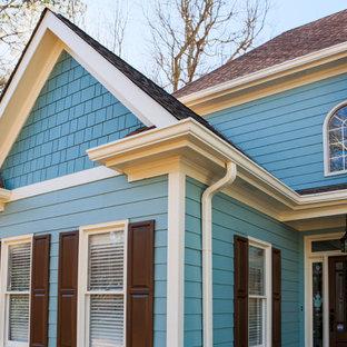アトランタのエクレクティックスタイルのおしゃれな家の外観の写真