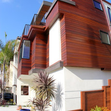 Contemporary Exterior by Dave Powers Construction