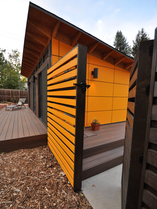 Client studio shed with bathroom 14x26 for Modern shed prices