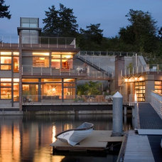 Contemporary Exterior by Scott Allen Architecture