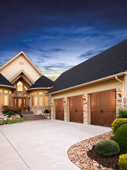 Wood garage door ideas pictures remodel and decor - Top notch image of home exterior decoration with clopay garage door ideas ...