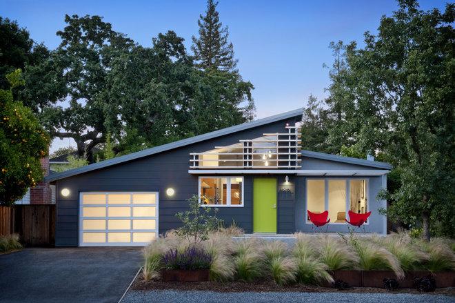 Midcentury Exterior by Ana Williamson Architect