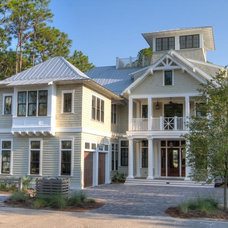 Beach Style Exterior by Borges Brooks Builders