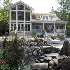 Traditional Exterior by Alan Kosa Interiors