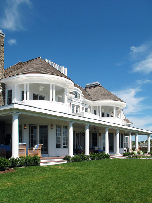 This is an example of a large victorian exterior in other with three - Large 2nd Floor Balcony Home Design Ideas Renovations