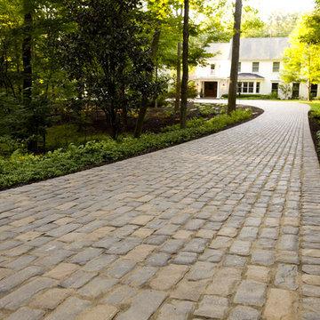 Cobblestone Concrete Paver Driveway