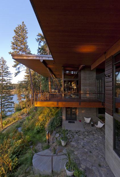 Rustic Exterior by Uptic Studios