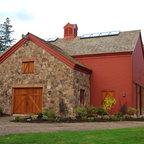 The Sawyer Post And Beam Barn Home Farmhouse Exterior