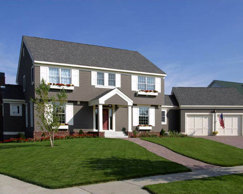 Garrison colonial home design ideas pictures remodel and decor for Colonial house exterior renovation ideas