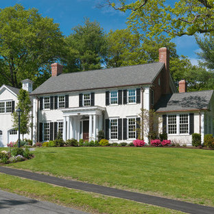 Inspiration for a timeless exterior home remodel in Boston