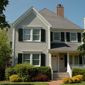 Colonial Style Home Kenilworth, IL in James Hardie Siding & Trim