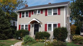 Colonial Style Home Winnetka, IL in Marvin Windows & James Hardie Siding