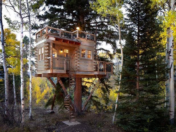 Rustic Exterior by Missy Brown Design