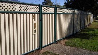 Colourbond Front fencing