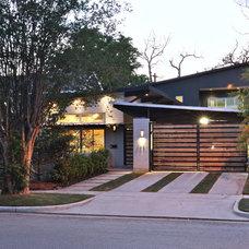 Midcentury Exterior by StudioMET Architects