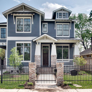 Arts and crafts exterior home photo in Houston