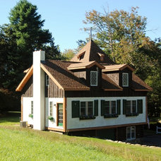 Rustic Exterior by C.M. Chartier Contracting