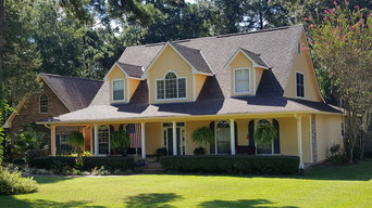 Completed house exteriors