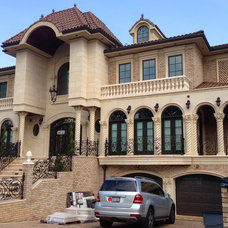 Mediterranean Exterior by Coral Cast Architectural Stone