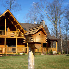 Contemporary Exterior by Katahdin Cedar Log Homes