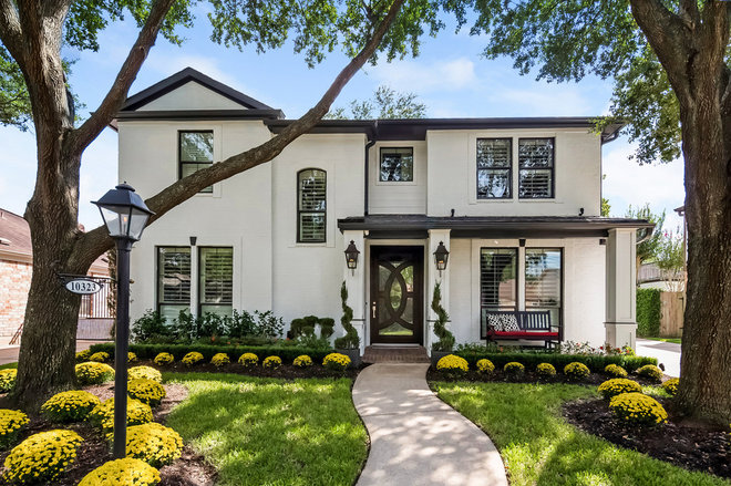 Transitional Exterior by D. Claire Designs