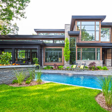 Contemporary Exterior by Bachly Construction