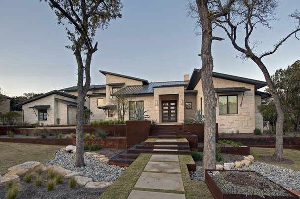 Contemporary Exterior by Bulhon Design Associates