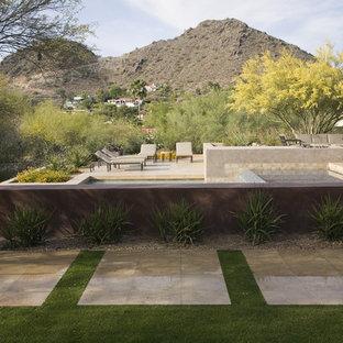 Contemporary exterior home idea in Phoenix