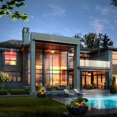 Contemporary Exterior by David Small Designs