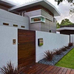 Идея дизайна: двухэтажный дом в современном стиле