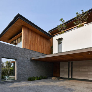 75 Most Popular Singapore Mixed Siding Exterior Home Design Ideas