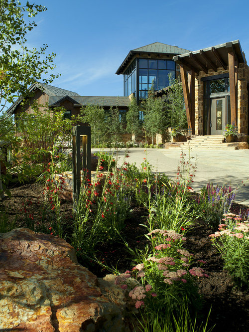 large contemporary exterior home idea in denver - Garden Ideas Colorado