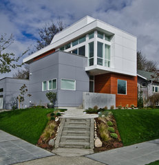 modern exterior by Elemental Design, LLC