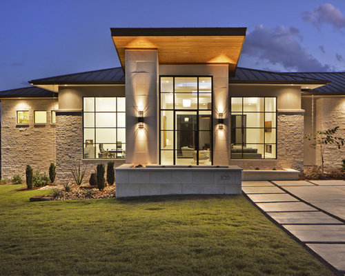 Fassadengestaltung modern  Fassadengestaltung Modern Stein | Haus Deko Ideen