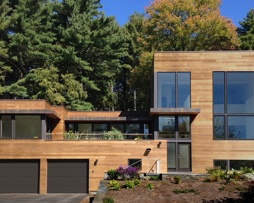 Houzz | Modern Wood Siding Design Ideas & Remodel Pictures on Contemporary Siding Ideas  id=65234