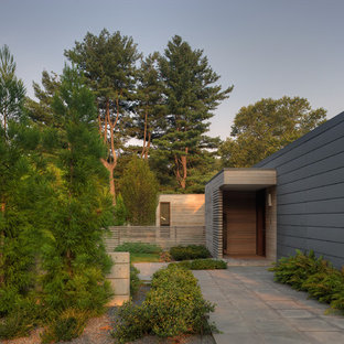 Inspiration for a contemporary wood exterior home remodel in Baltimore