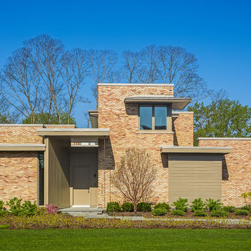 Contemporary Home Front Elevation View