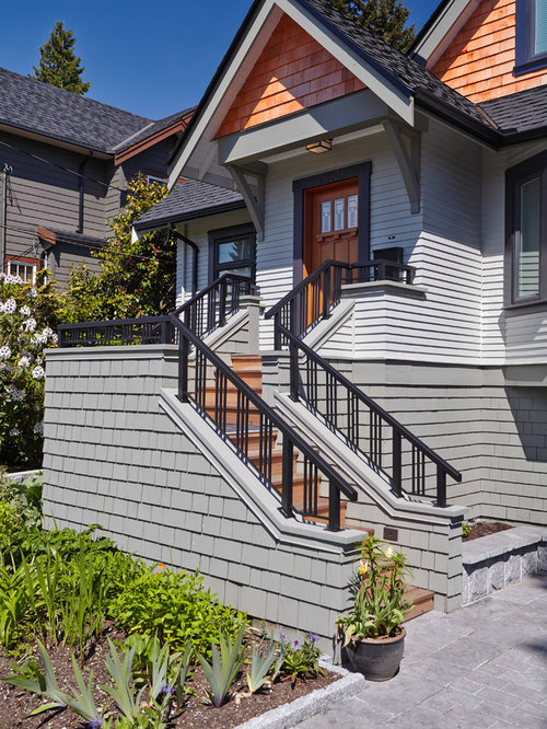 Gray shingle siding design ideas remodel pictures houzz for Shingle style siding