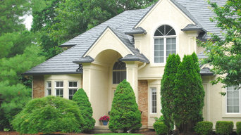 Contemporary Metal Slate Roof