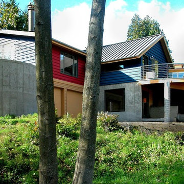 Contemporary on Sloping Site