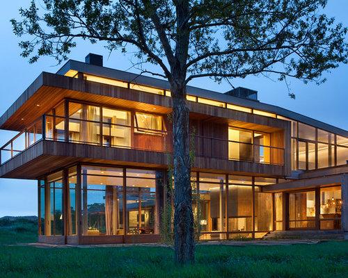 Contemporary ranch homes houzz for Updating 80s contemporary home exterior