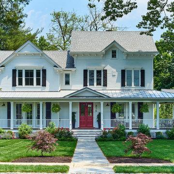 Contemporary White Farm House